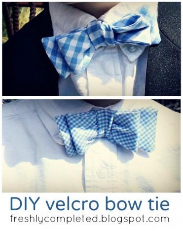 DIY Velcro Bow Tie