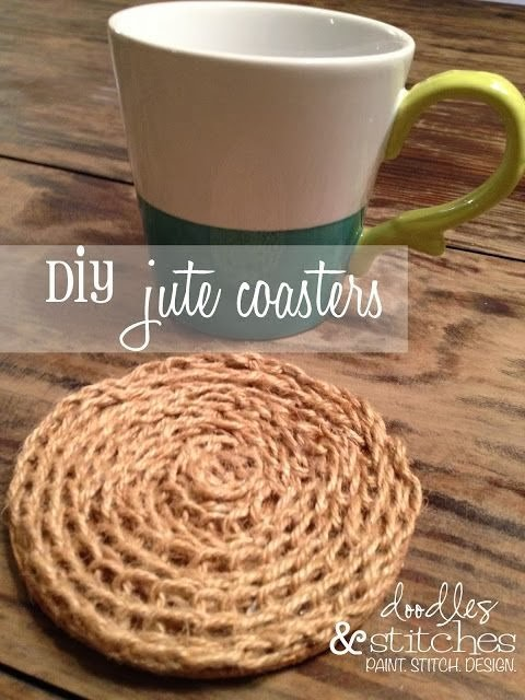 DIY Jute Coasters by Doodles and Stitches