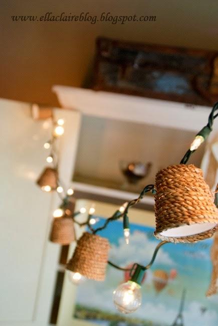 DIY Jute Light Shade Tutorial by Ella Claire