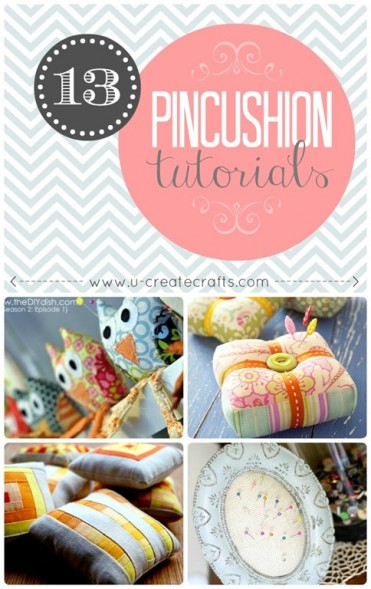 Many adorable pincushion tutorials!