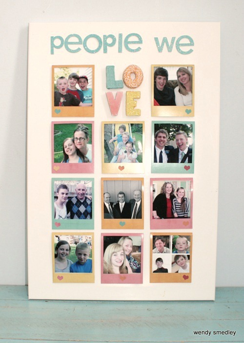 How to make a photo board