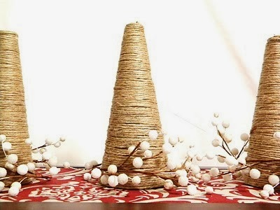 Jute Christmas Tree Tutorial by Thrifty and Chic
