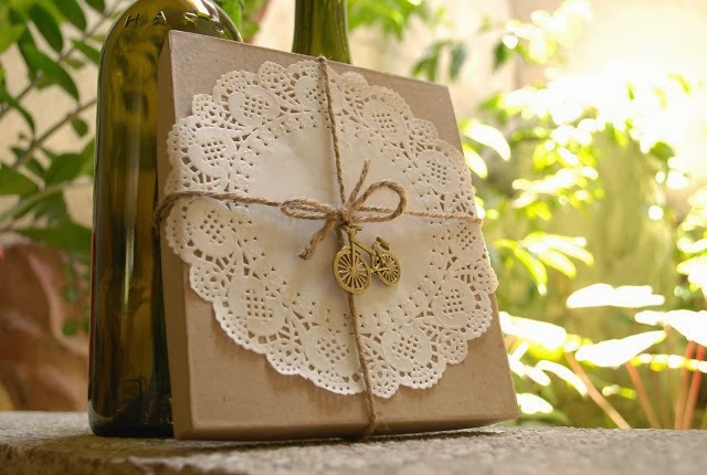 Doily and Jute Packaging by Candidly Pretty