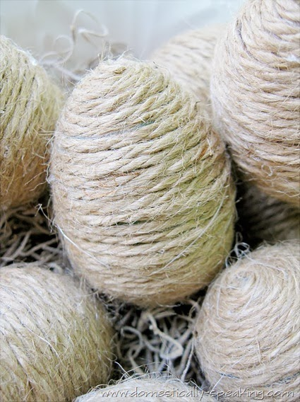DIY Twine Eggs by Domestically Speaking