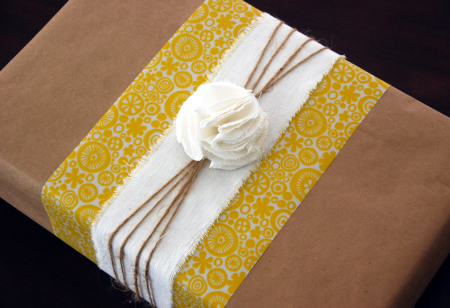 Brown paper packaging by The Thrifty Crafter
