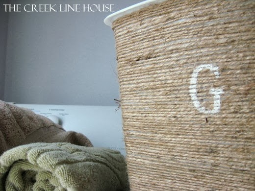 DIY Twine Trash Can by The Creek Line House
