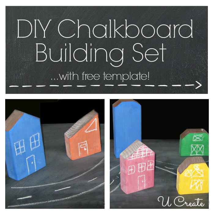 DIY Chalkboard Building Set at U Create - TONS of chalkboard paint tutorials!