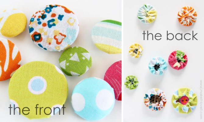 How to Make Button Covers WITHOUT a kit!