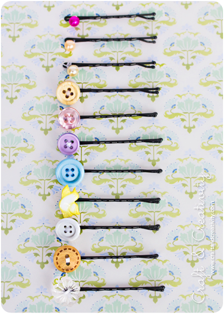DIY Button Hairpins by Craft and Creativity