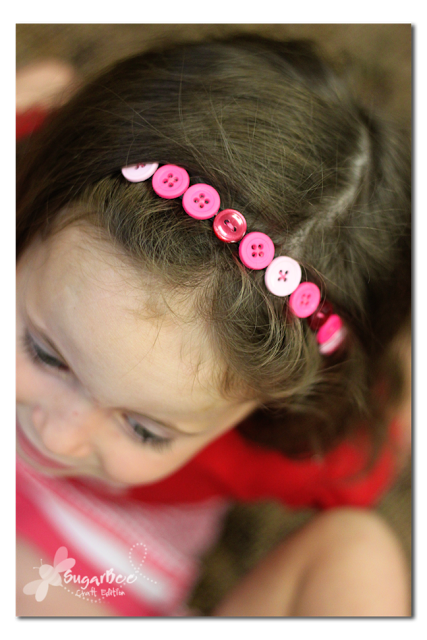 Button Headband Tutorial by Sugar Bee Crafts
