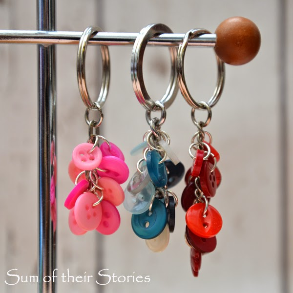 Button Cluster Keychain Tutorial by  Sum of Their Stories