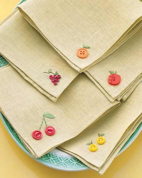 Fruit Button Napkin Tutorial