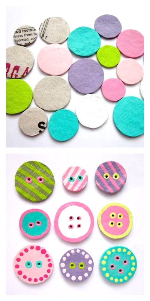 How to Make Cardboard Buttons by Paper Cakes Finds