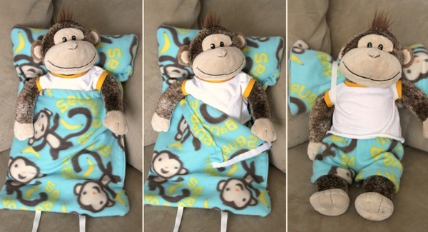 DIY Stuffed Animal Sleeping Bag