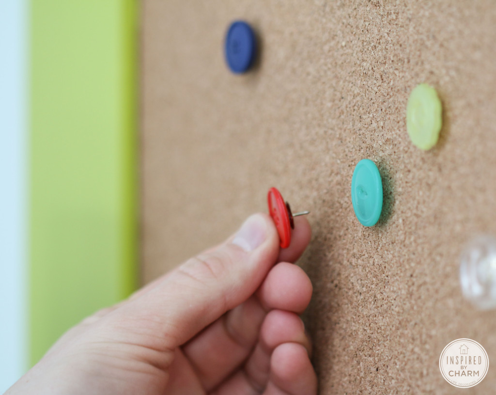 DIY Button Thumbtacks by Inspired by Charm