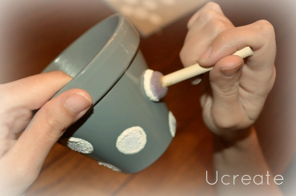 Mini Polka Dot Pots Tutorial u-createcrafts.com