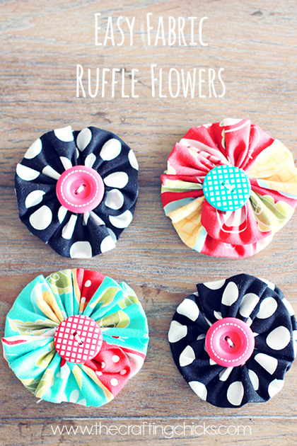 Ruffle Button Flower Tutorial by The Crafting Chicks