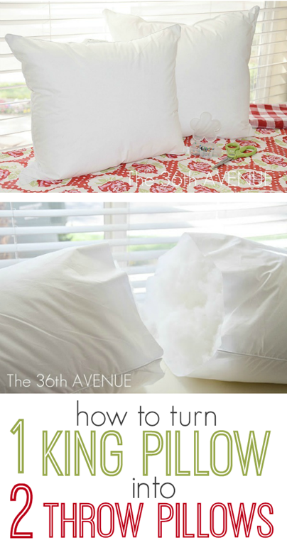How to Turn a King Sized Throw Pillow into TWO throw pillows.