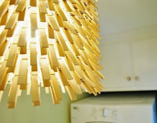 DIY Clothespin Light Fixture by Young House Love