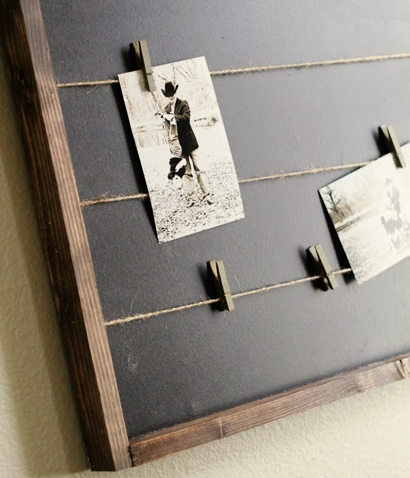 Clothespin Memo Board by Shanty2Chic