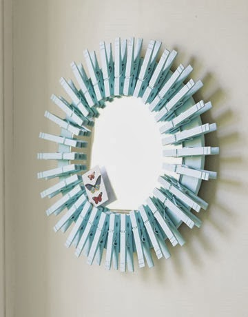 Clothespin Mirror Tutorial at Country Living
