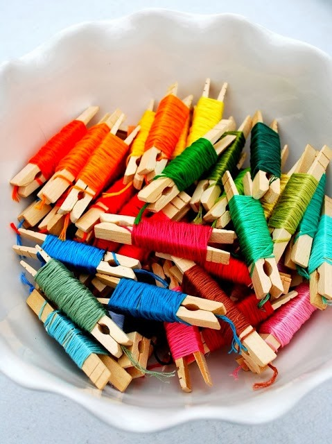 Clothespin Thread Holders by Mrs. Jones