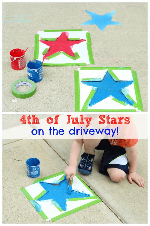 Patriotic Driveway Stars