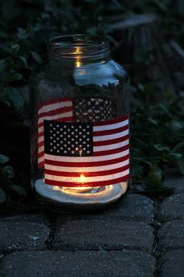 Pickle Jar Luminaries for the 4th of July