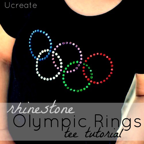rhinestone olympic shirt tutorial