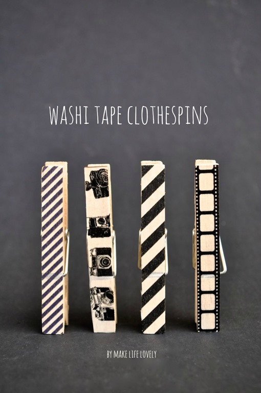 Washi Tape Clothespins by Make Life Lovely