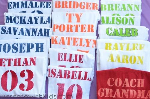 DIY Jersey Shirts