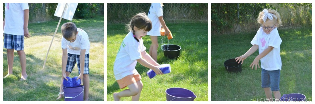 Water Bucket Relay Game