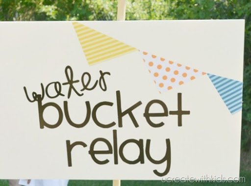 Water Bucket Relay and other Olympic Games