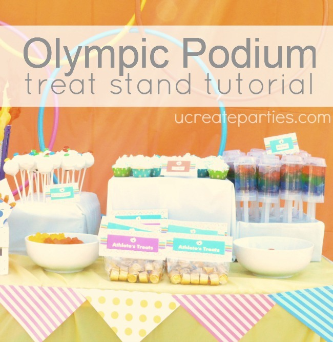 DIY Olympic Podium Treat Stand