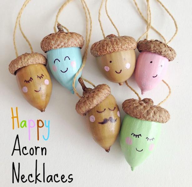 DIY Happy Acorns Craft - 20 kids camping crafts!