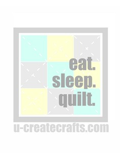 Eat. Sleep. Quilt. Printable {gray version}
