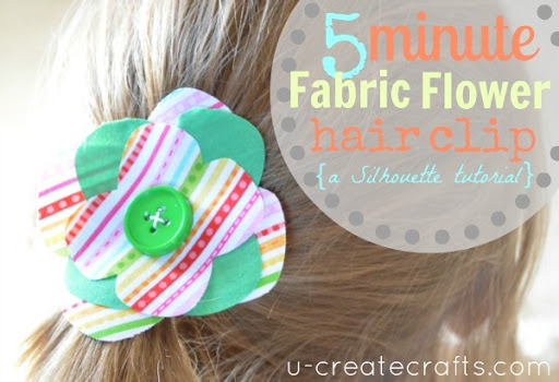 5 Minute Flower Hair Clip Tutorial