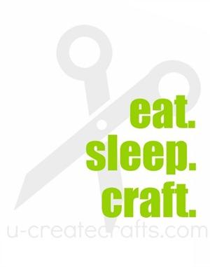Free Printable Eat. Sleep. Craft. {green}