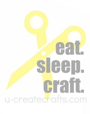Free Printable Eat. Sleep. Craft. {yellow}
