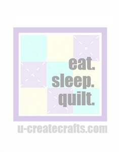 Free Printable Eat. Sleep. Quilt.