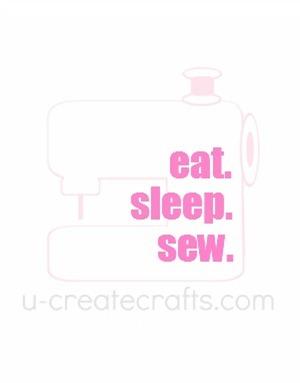 Free Printable Eat. Sleep. Sew. {pink}