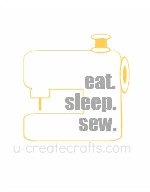 Free Printable Eat. Sleep. Sew. {yellow}
