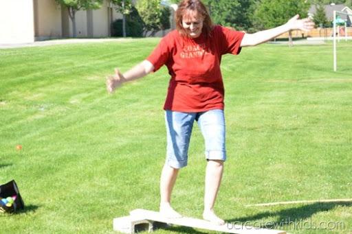 Mom balancing