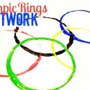Kids Craft: Olympic Rings Art by U Create