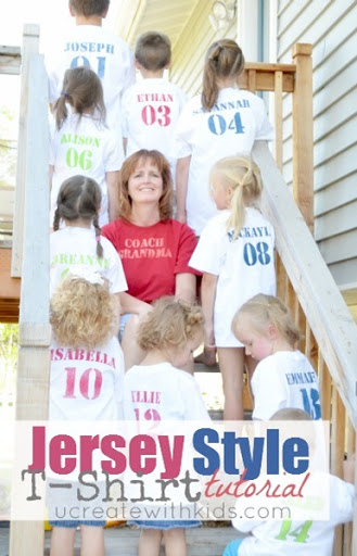Rockin' Awesome Jersey Style T-Shirt Tutorial