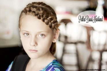 Pulled Braid Headband Hair Tutorial