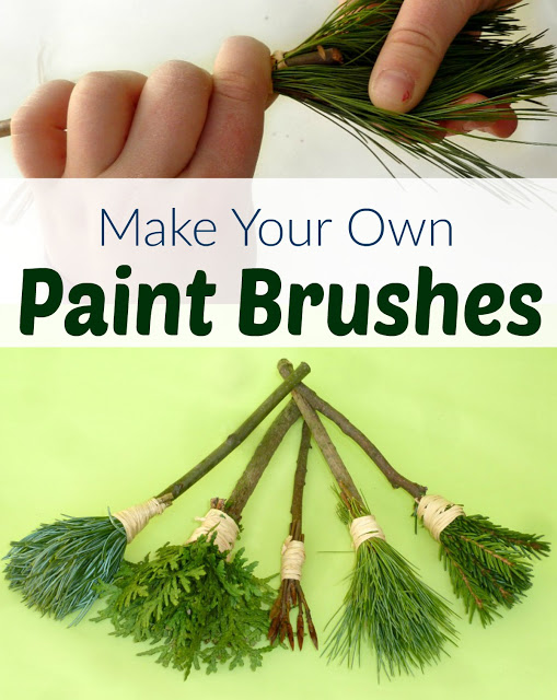 DIY Nature Paintbrushes! 20 Camp Craft for Kids!