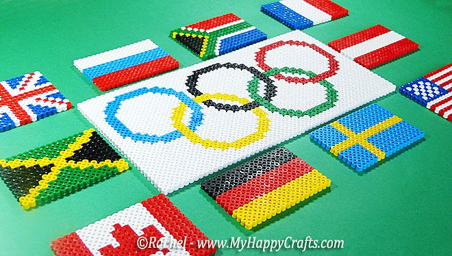 Olympic Perler Beads and other Olympic crafts!