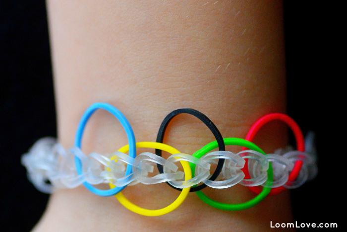Olympic Rings Rainbow Loom Bracelet Tutorial