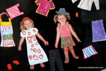Personalized Magnetic Paper Doll Tutorial